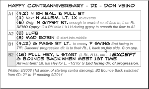 A dance card format example.