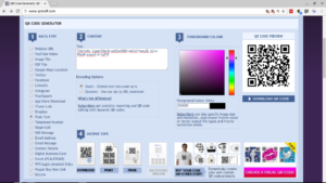 Generating the QR code online
