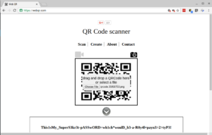 Decoding the QR image