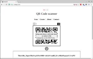 Decoding the QR image